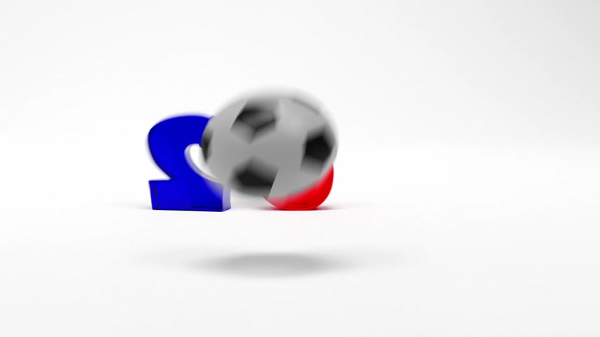 gag : Cartoon Digits And Soccer Ball Assemble . 3D Animation. Stock Footage