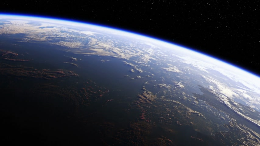 Amazing View Of Planet Earth From Space. Seamless Looped. Realistic 3d Animation.