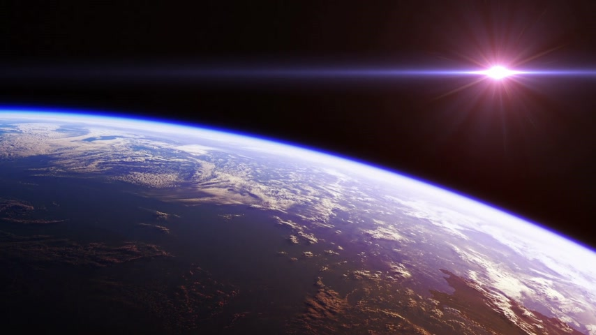 roket : Beautiful View Of Planet Earth From Space. Seamless Looped. Realistic 3d Animation.