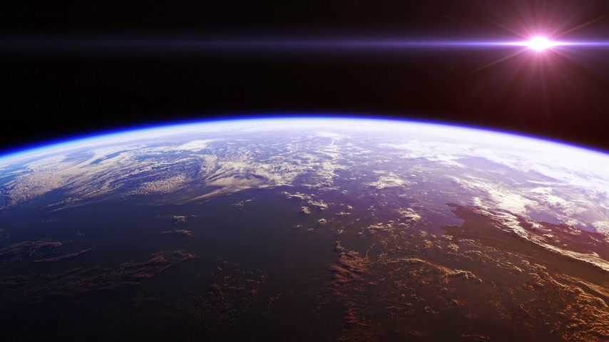 beautiful view : Beautiful View Of Planet Earth From Space. Realistic 3d Animation. Seamless Looped.