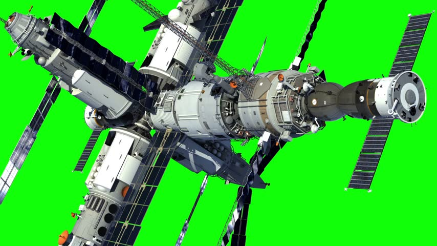 orbital : Space Station On Green Screen