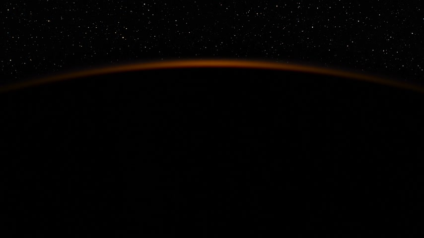 4K. Realistic Sunrise Over The Earth. 3840x2160. 3d animation. Ultra High Definition. (You Can Speed Up This Animation For Your Project).