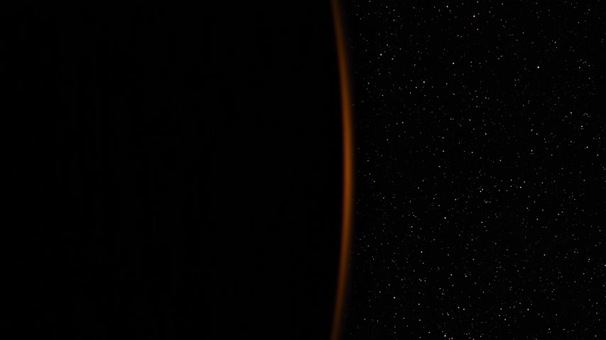 Realistic Sunrise Over The Earth. 4k. Stock mozgókép