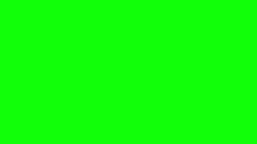 Metallic Wrecking Ball Shattering The Wall. Side View. Green Screen.