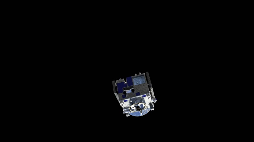 Satellite Deploys Solar Panels With Alpha Matte