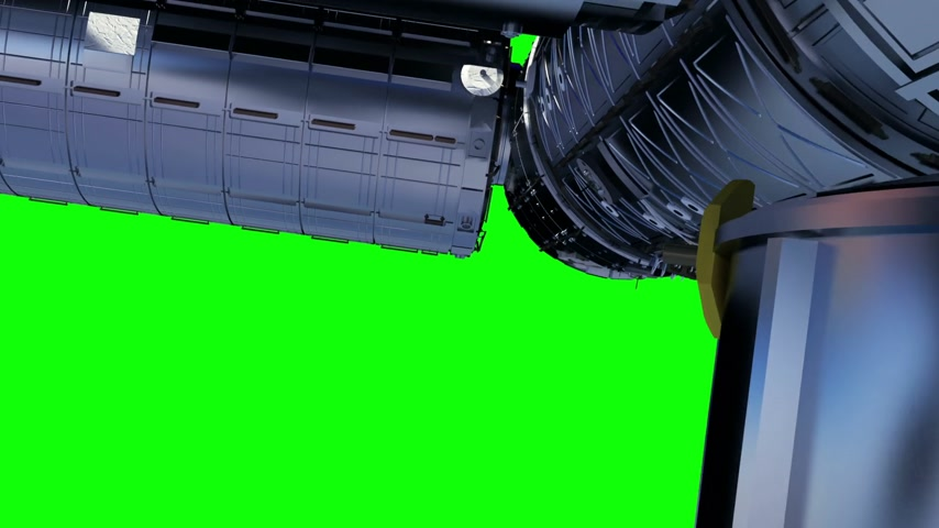 roket : International Space Station. Green Screen Stok Video