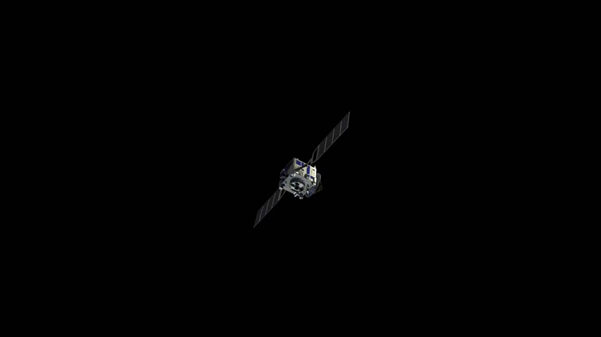 Communication Satellite With Alpha Matte