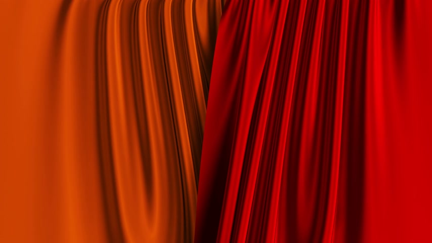 Multicolor Curtains Opening. Alpha Channel.