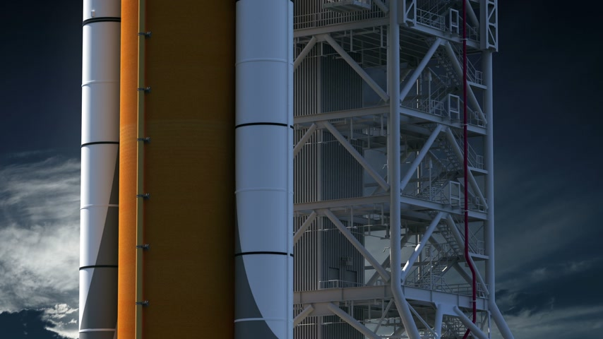 Space Launch System On Launch Pad