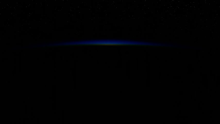 orbital : Sunrise In Space Stock Footage