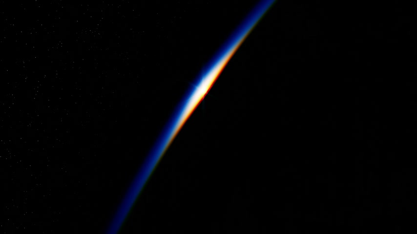 Sunrise In Space Over The Earth Stock mozgókép