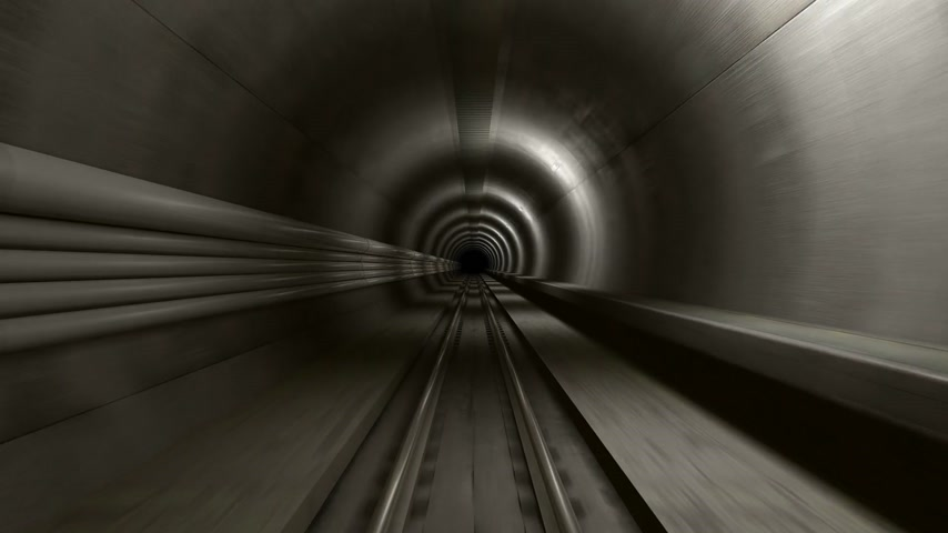 podzemní : High speed ride through a subway tunnel.