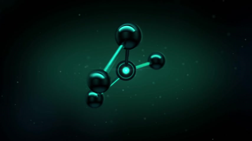 atomový : Beautiful Molecule Structure in microscope. HD 1080.