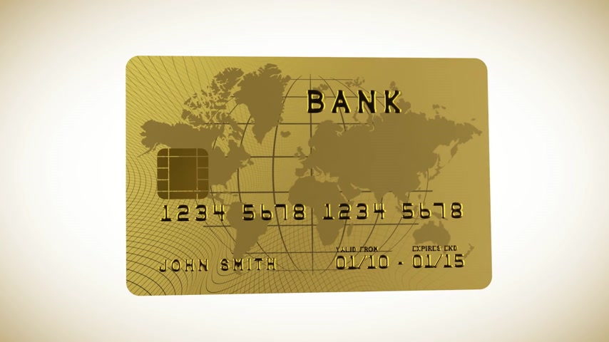 prim : Gold credit card in HD