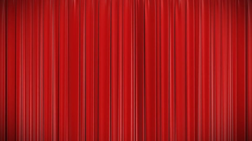 színpad : Highly detailed 3d animation of Red curtain opening and closing with green screen, HD 1080. Stock mozgókép