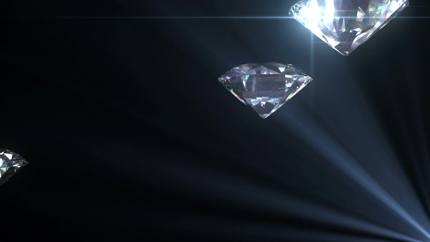 rombusz : Beautiful Diamonds flying with Matte in Looped animation. HD 1080.
