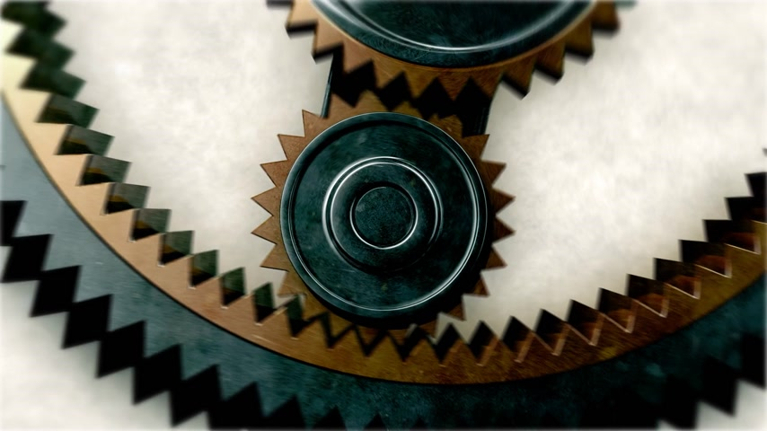 výbava : Gears Close-up. Looped. HD 1080.