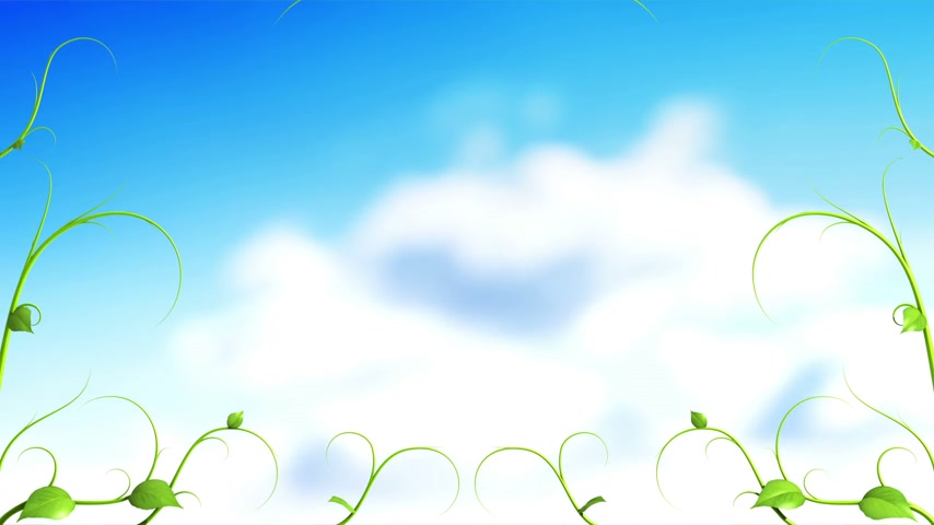 bitki : Green Plant pattern with clouds. HD 1080.