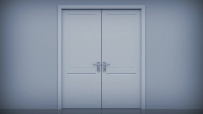 fantazja : Doors opening to a bright light. Alpha Channel is included. HD 1080. Wideo