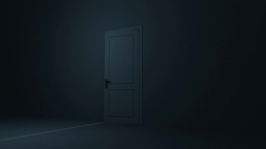 ajtó : Door opening to a heaven light. Flares flying. HD 1080.