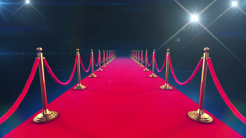 halı : Red Carpet Event. Beautiful Looped Animation of a walk down and paparazzi camera flashes. Alpha channel. HD 1080.