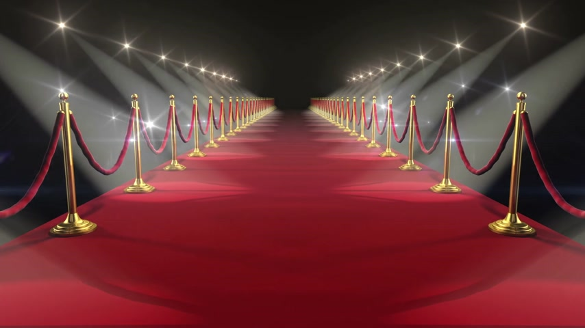 red symbol : Red Carpet. Looped animation. HD 1080.