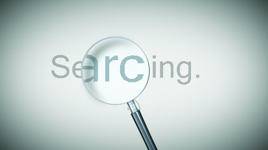 surfing the net : Searching process with Loupe. Loopable animation. HD 1080. Stock Footage