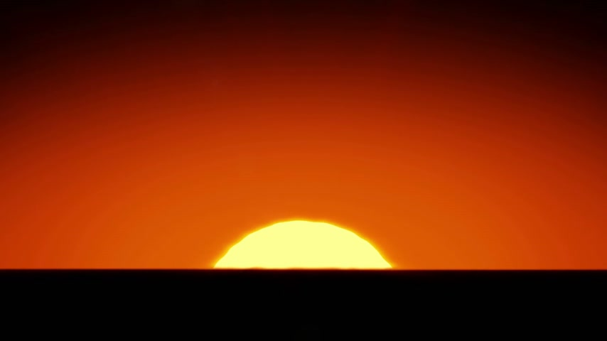 raios solares : Beautiful Sun Rising over Horizon. 3d animation of the Sunrise. HD 1080. Stock Footage