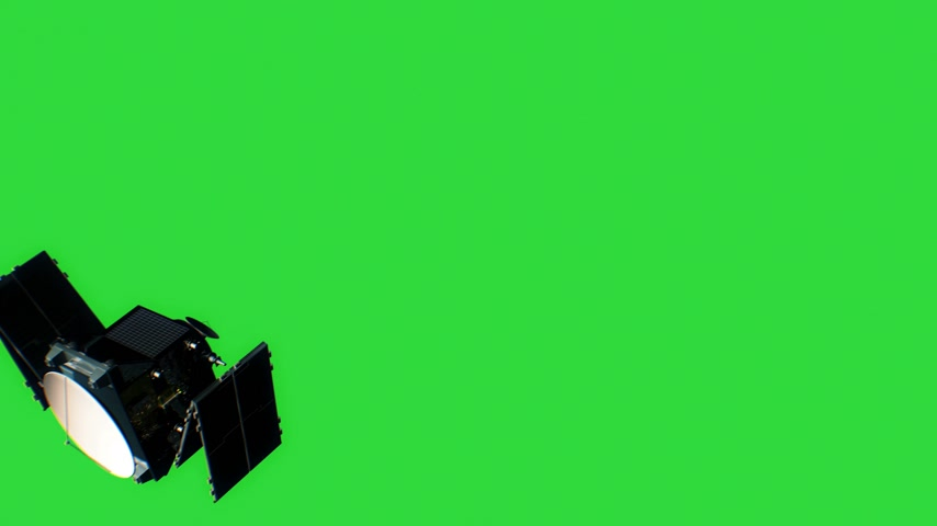 továbbít : Beautiful View of Satellite on Green Screen Opening Solar Panels. 3d Animation. Space and Technology Concept. 4k Stock mozgókép