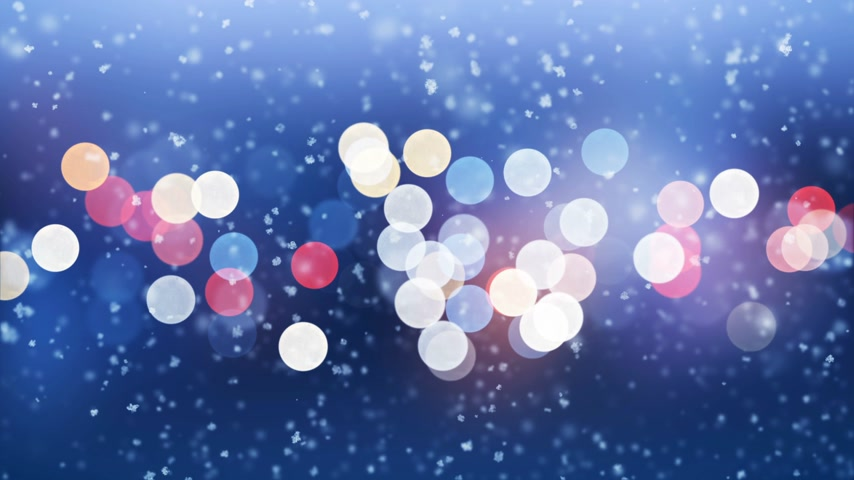 hábil : Beautiful Snowfall Side Wind Blowing Seamless on City Lights Blinking Background. Slow Motion Looped 3d Animation. Holidays Celebration Concept. 4k Ultra HD 3840x2160