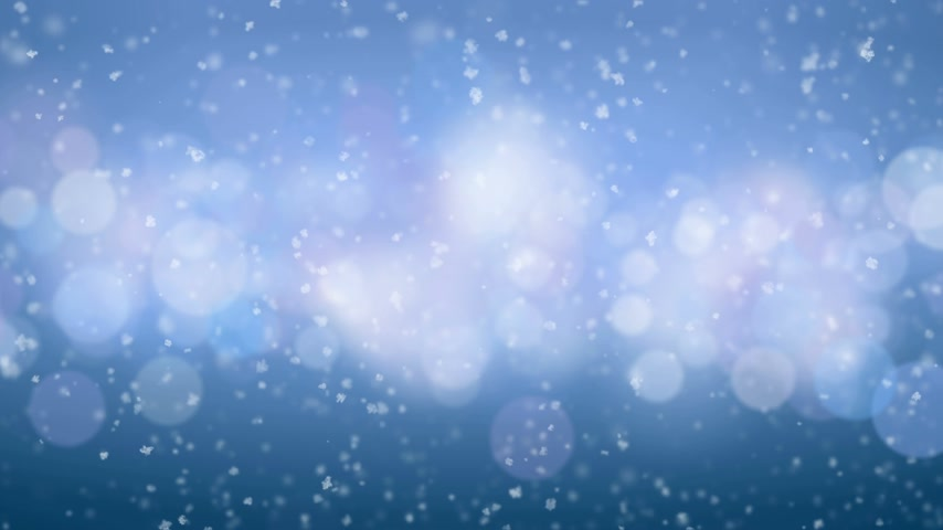 queda de neve : Beautiful Snowfall Side Wind Blowing Seamless on Blue Bokeh Background. Slow Motion Looped 3d Animation. Holidays Celebration Concept. 4k Ultra HD 3840x2160. Vídeos