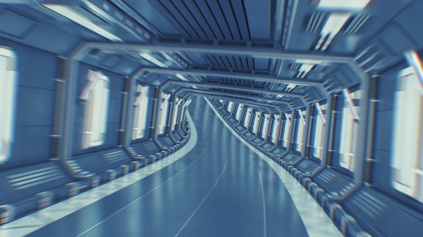 porta de entrada : Beautiful Abstract Tunnel Flight Through Seamless. Flying in Futuristic Spaceship Tunnel Looped 3d Animation CG. Futuristic Technology Concept. 4k Ultra HD 3840x2160