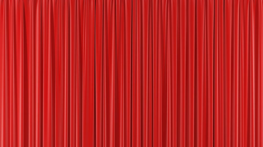 samet : Beautiful Seamless Red Single Curtain Opening and Closing on Green Screen. Looped 3d Animation Abstract Realistic Curtain Revealing Background. Useful for Transitions Alpha Mask 4k UHD 3840x2160