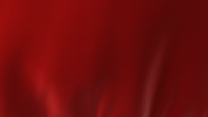 veludo : Beautiful Red Waving Curtain Blown Away by Wind, Opening Background. Looped 3d Animation with Alpha Matte. Abstract Wavy Silk Cloth Surface Motion Revealing Screen. 4k Ultra HD 3840x2160