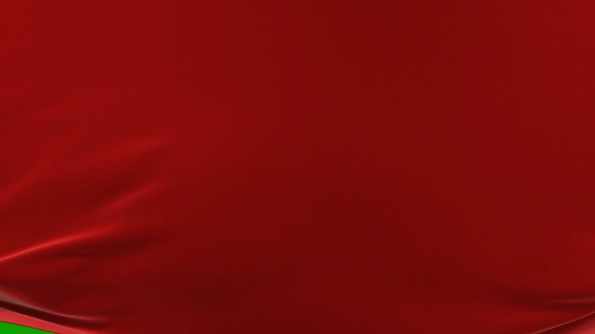 sedoso : Beautiful Red Waving Cloth Moving Up Opening the Background. Abstract 3d Animation with Alpha Matte. Wavy Silk Fabric Surface Motion Revealing Screen. 4k Ultra HD 3840x2160