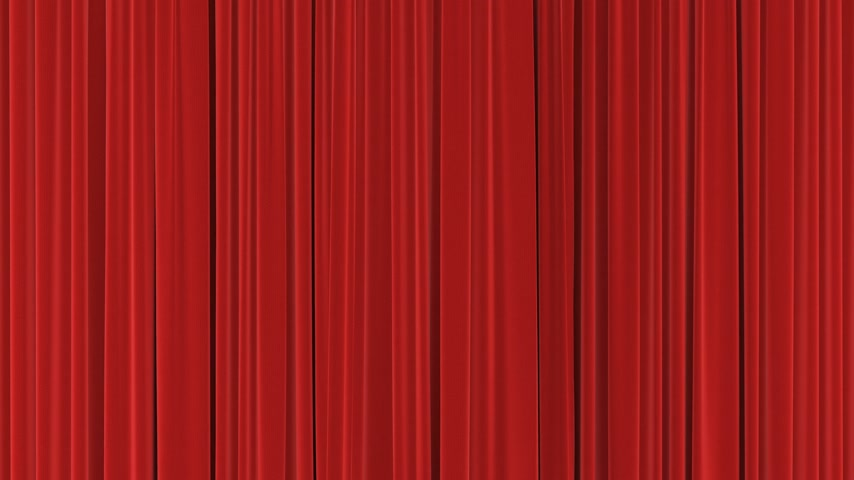 Classic Red Theatrical Abstract Curtains Opening, Rising, Closing with Green Screen. 3d Animation Theater Stage Curtains with Alpha Channel. 4k Ultra HD 3840x2160 Stock mozgókép