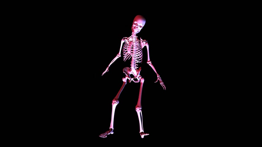 grotesque : Posing Skeleton