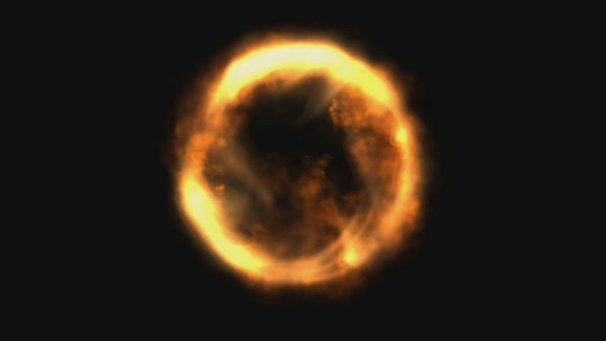 aanbellen : Fire Ring Animation Stockvideo