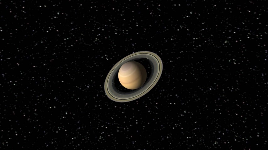 planety : Digital Animation of the Planet Saturn