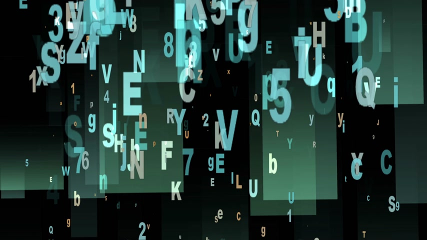 letras : Digital Animation of Letters and Numbers in 4K