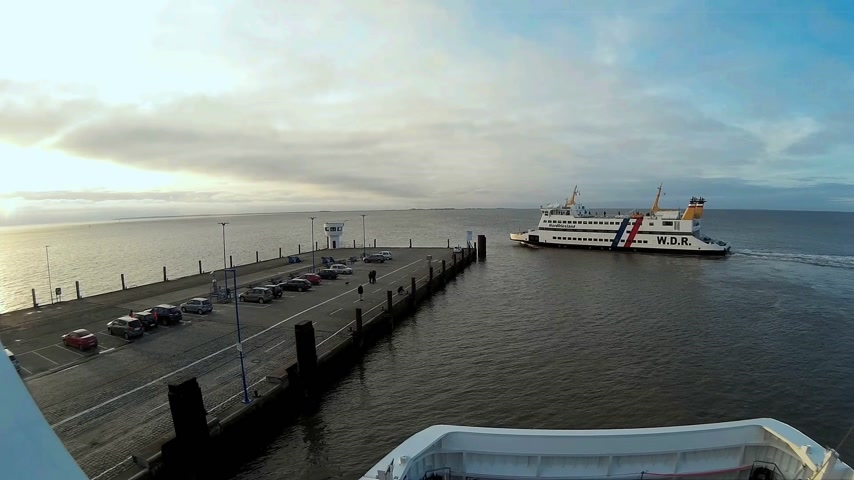 schleswig : Ferry to the North Frisian Islands in Germany