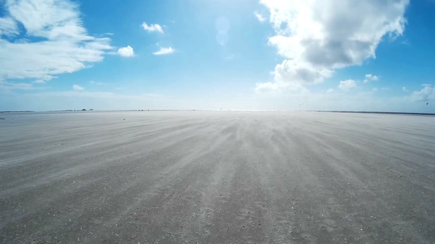 schleswig : On The North Sea Beach of St. Peter-Ording