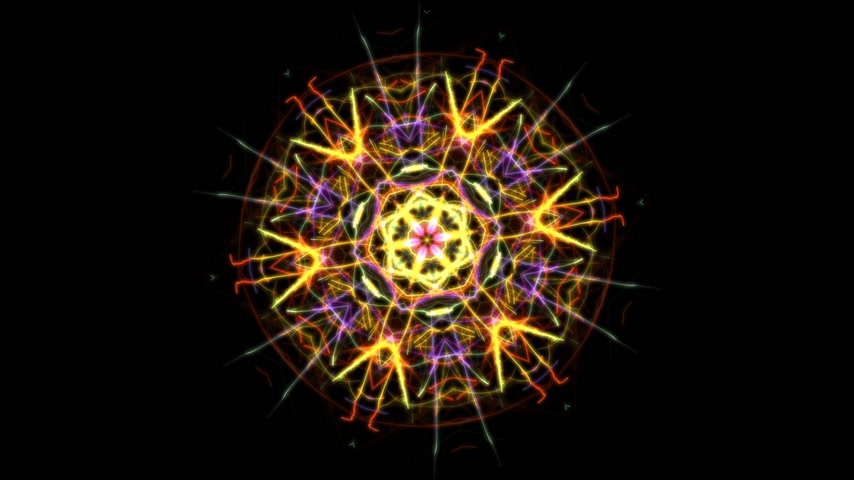 hallucination : Digital animation of a kaleidoscopic mandala