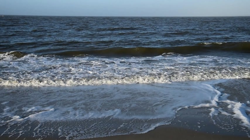 schleswig : Roughened water in the North Sea