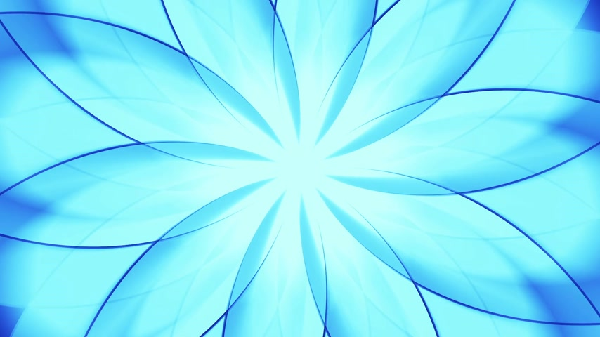 ser : Abstract floral background. Blue tint. Seamless loop. can be used as VJ-element or motion background. Stock Footage