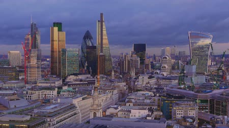 london england : City of London skyline - Financial District - famous office buildings
