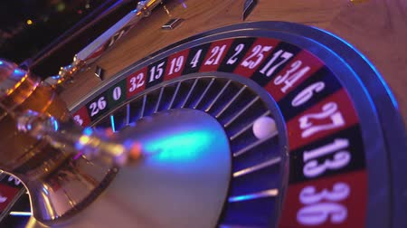 patins : Roulette Wheel in a casino - perspective view Stock Footage