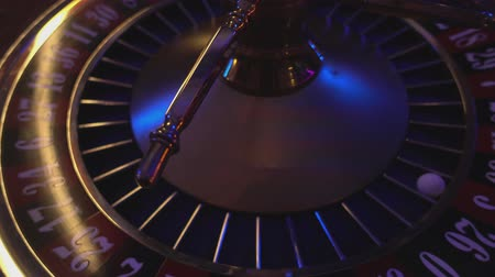 patins : Roulette wheel - close up view Stock Footage
