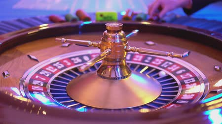 patins : Roulette table in a casino Stock Footage