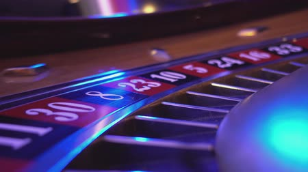 patins : Macro view on a Roulette Wheel in a casino - cool perspective